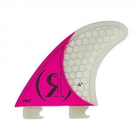 """4.0"""" - Fin-S 2.0 Tool-Less Fiberglass - Left Surf Fin - PINK"""